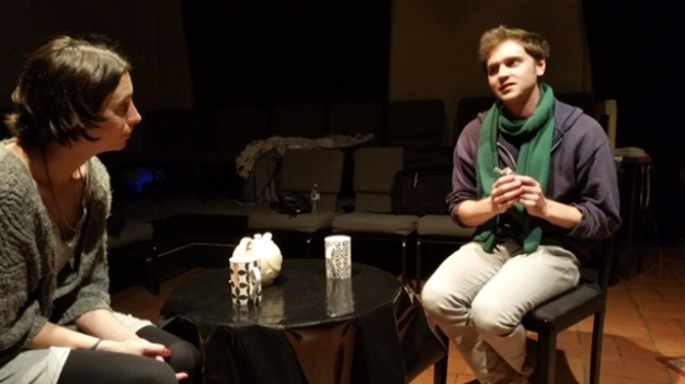 Dying City photo: Katie Tandy as Kelly and Andrew MacIver as Peter